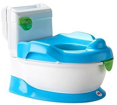 Fisher-Price FRG78 - Lernspaß Töpfchen Toilettentrainer mit Griffen und, ab nehmbarem Sitzaufsatz inkl. Musik und Geräuschen für Kleinkinder deutschsprachig Bild 1