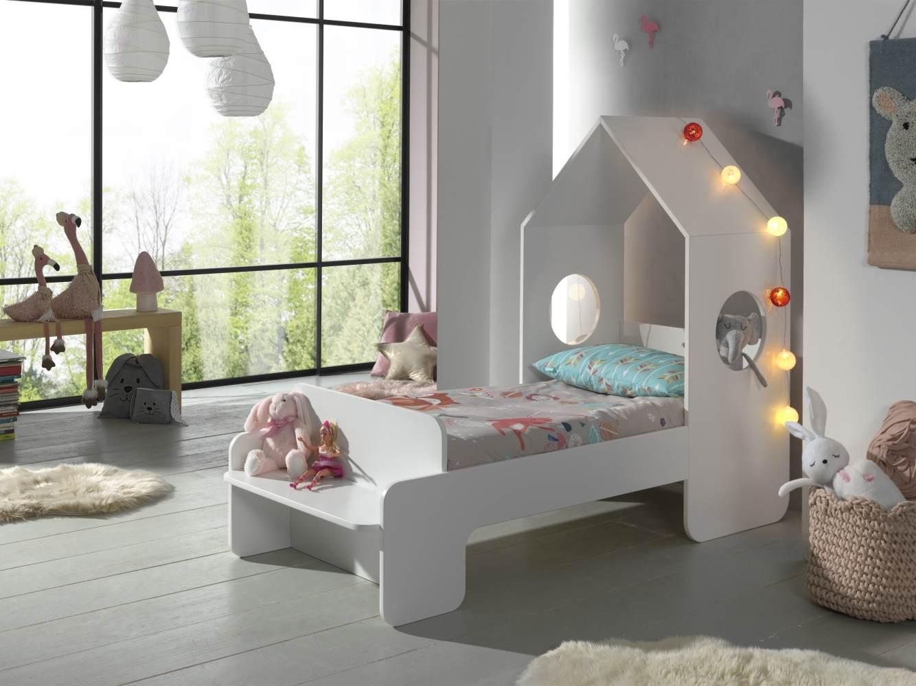 Vipack 'Casami' Hausbett 70 x 140 cm weiß lackiert Bild 1