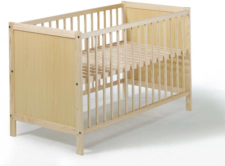 Kinderbett Leo 60x120 cm, natur lackiert Bild 1