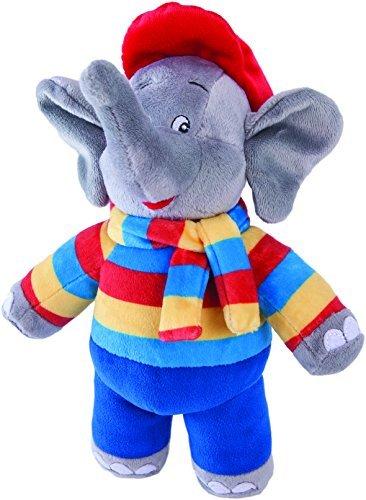 Benjamin Blümchen Kuscheltier Wetter-Elefant mit Sound 10843 , weiche Plüschfigur mit original Stimme, ca. 22 cm groß von Jazwares Bild 1
