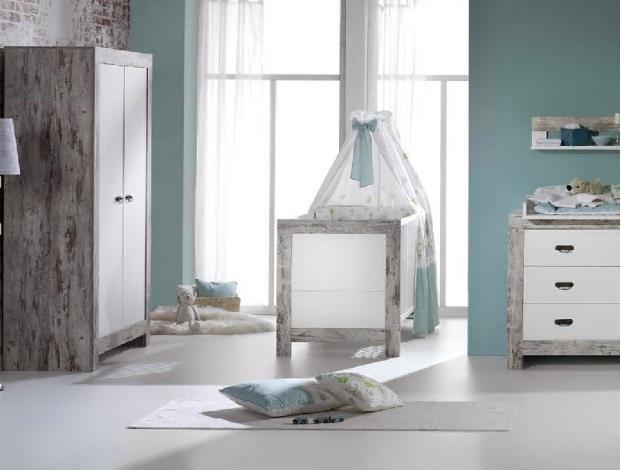 Schardt 'Nordic Chic' 3-tlg. Babyzimmer-Set Schrank 2-türig Bild 1