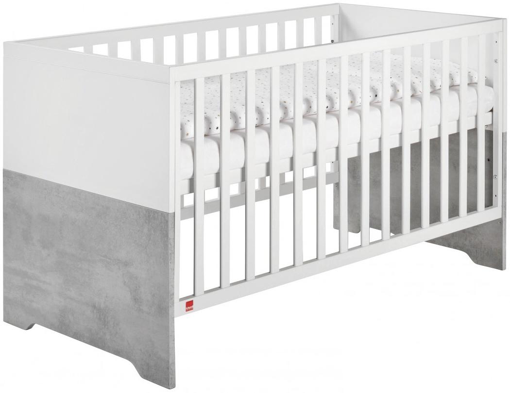 Coco Grey Kombi-Kinderbett 70x140 cm, weiß, Stone grey Bild 1