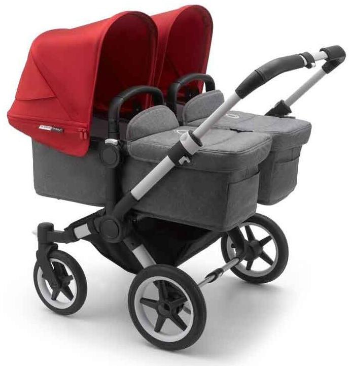 Bugaboo 'Donkey3 Twin' Zwillingskinderwagen 2020 Rot Bild 1