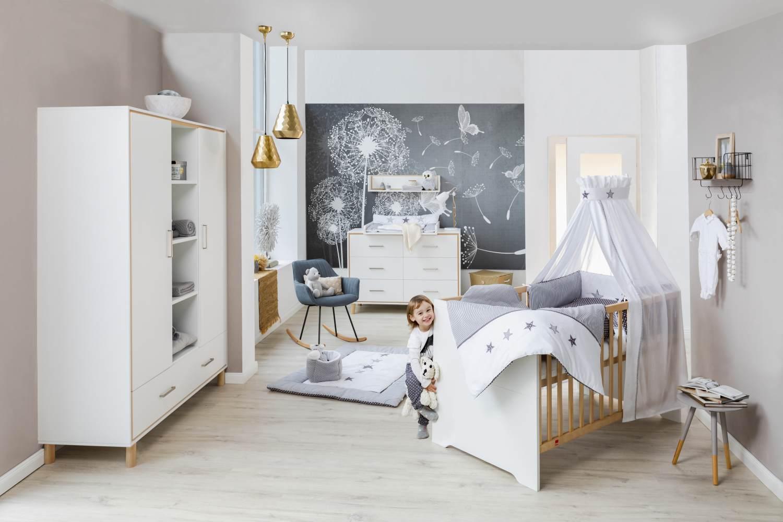 Kinderzimmer-Set Coco White mit Schrank 2-türig Bild 1