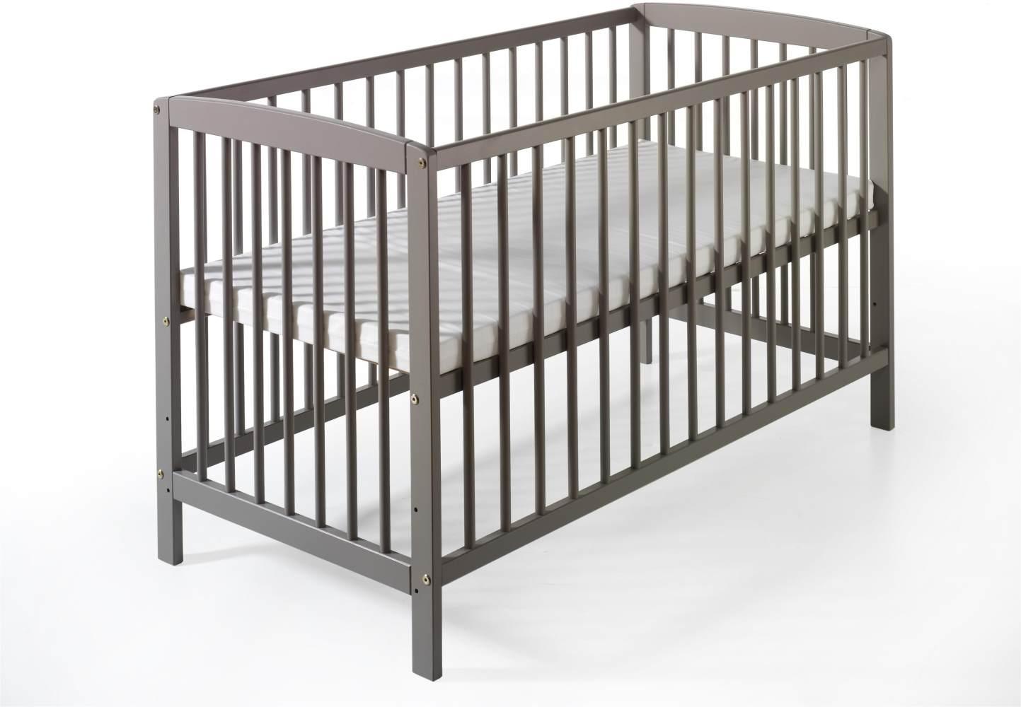 Schardt 'Felix' Kinderbett grau lackiert Bild 1