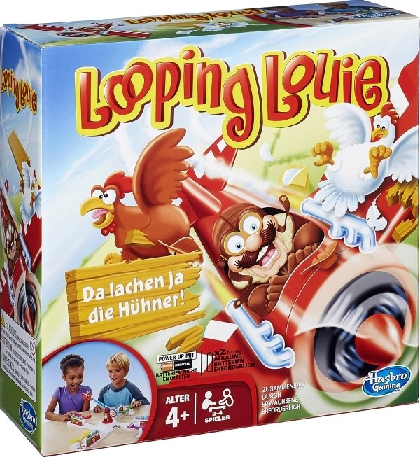 Hasbro 'Looping Louie', Geschicklichkeitsspiel, Kinderspielklassiker ab 4 Jahren, 2-4 Spieler, mit 2 Geschicklichkeitsstufen Bild 1