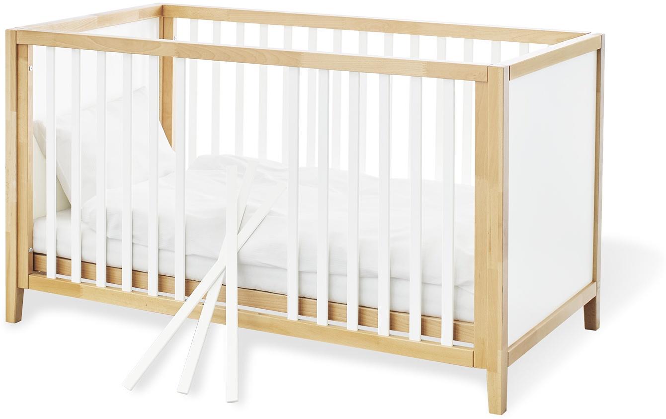 Pinolino 'Calimero' Kombi-Kinderbett weiß / natur Bild 1