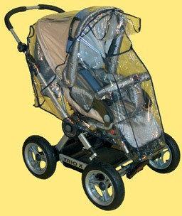 Sunnybaby 13198 Regenverdeck Folie für Zwillingskinderwagen Bild 1