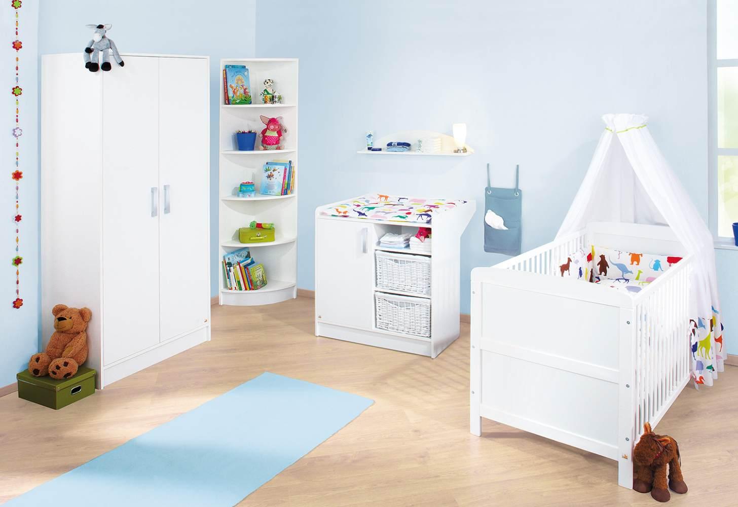 Pinolino 'Viktoria' 3-tlg. Babyzimmer-Set weiß Bild 1