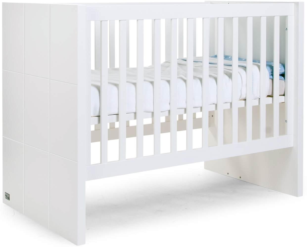 Childhome 'Quadro White' Kombi-Kinderbett 60x120cm Bild 1