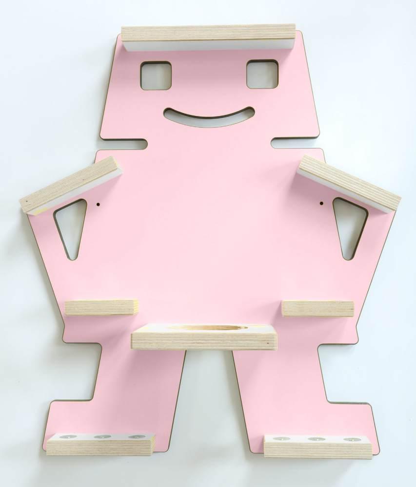 Schreinerei Linden 'Roboter' Tonie Regal mit Ladestation, rosa Bild 1