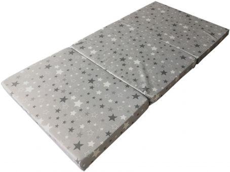IWH 'Sterne' Reisematratze 60 x 120 cm, grau/weiß Bild 1