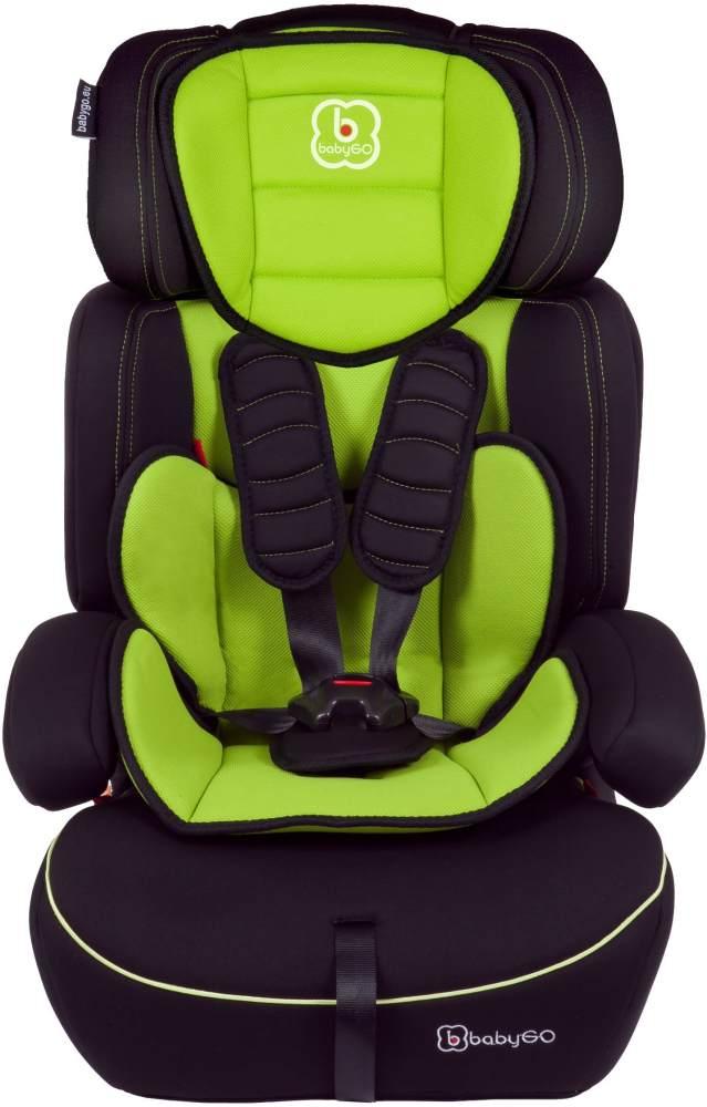BabyGo 'Freemove' Autokindersitz in Grün, 9 bis 36 kg (Gruppe 1/2/3), umbaubar zur Sitzerhöhung Bild 1