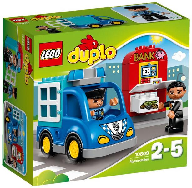 LEGO Duplo 10809 - Polizeistreife, Kleinkinder-Spielzeug, große Bausteine Bild 1