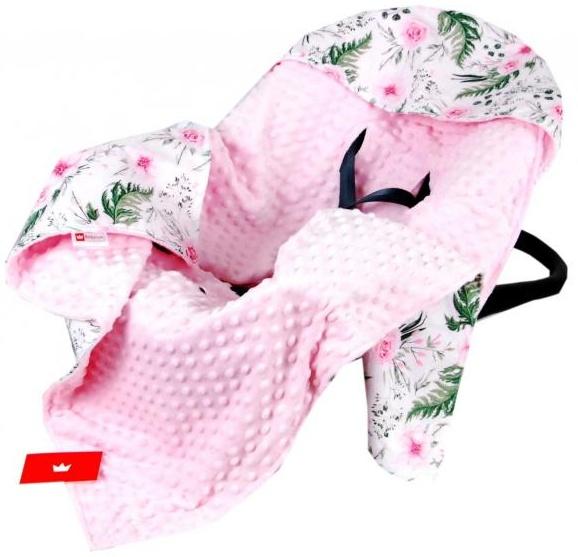 BabyLux 'Wilde Blüten' Einschlagdecke 90x90 cm, pink Bild 1