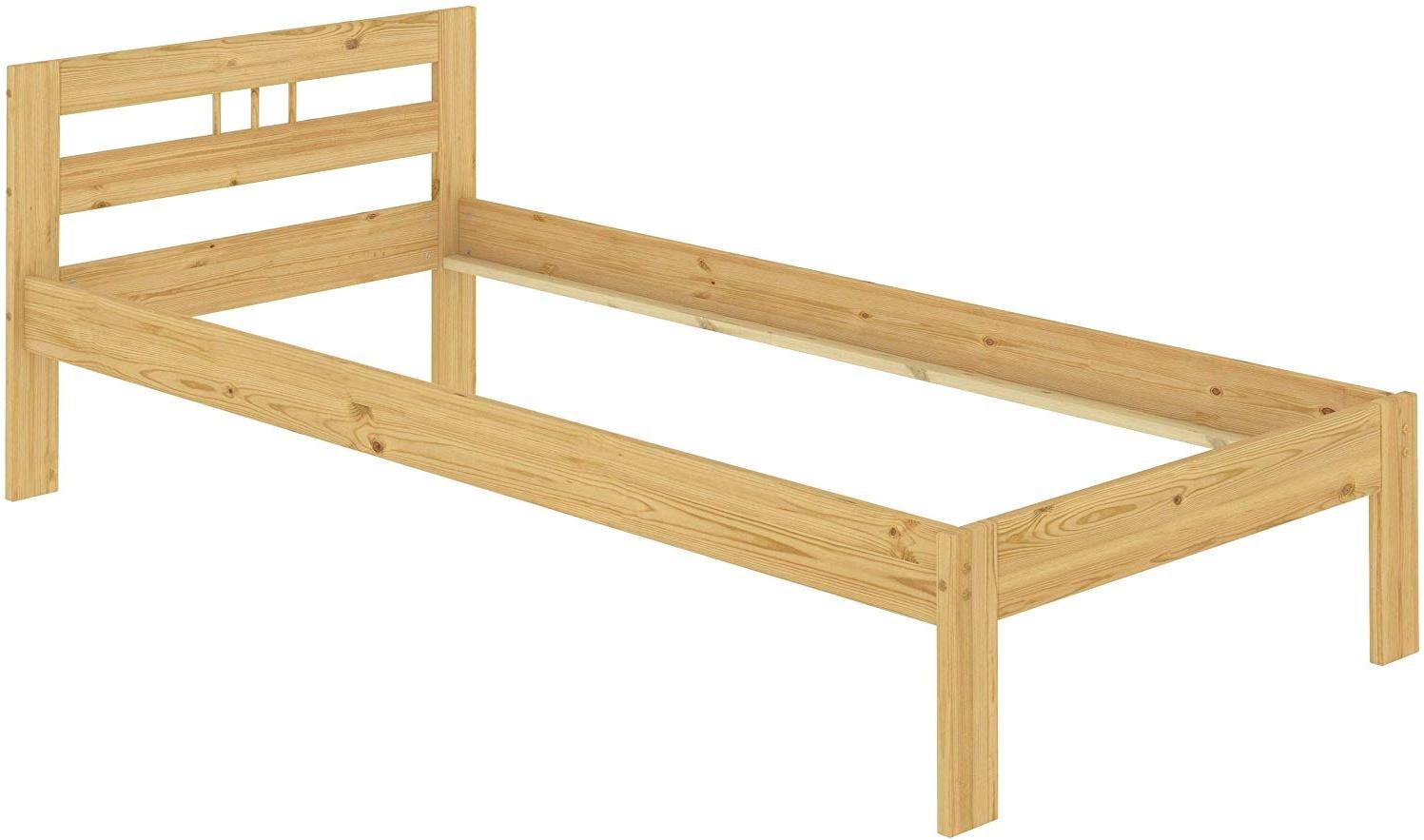 Erst-Holz Einzelbett 80x200 cm, natur Bild 1