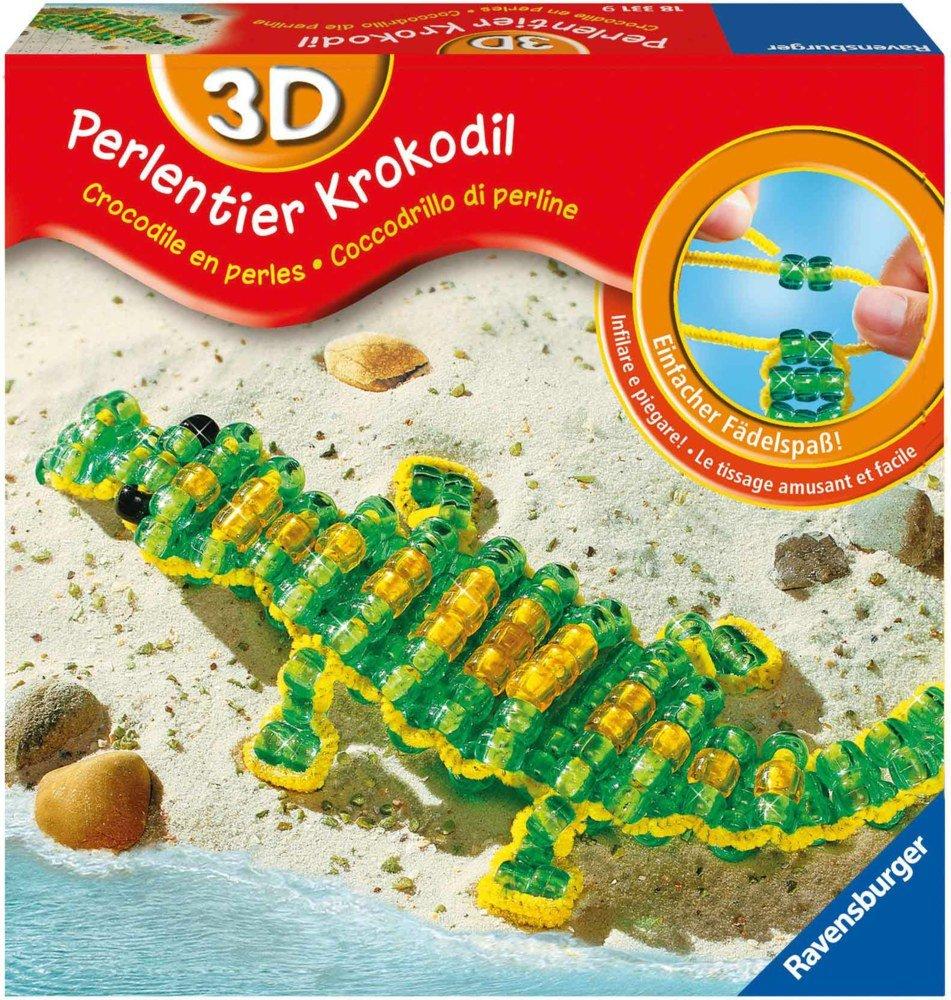 Ravensburger 18331 - 3D-Perlentier Krokodil Bild 1