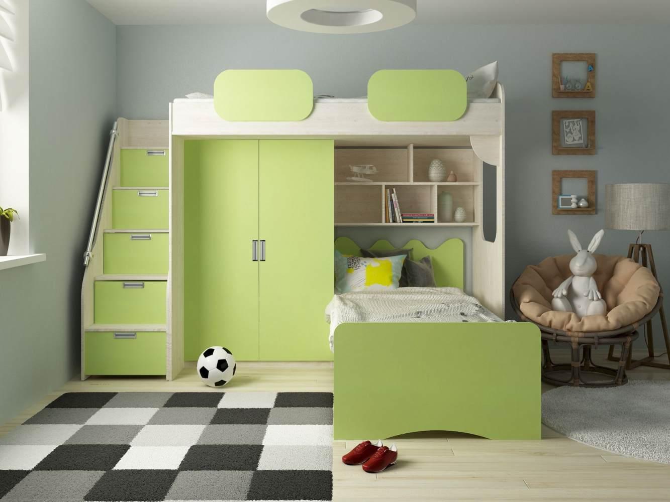 Etagenbett 'Geko' grün Bild 1