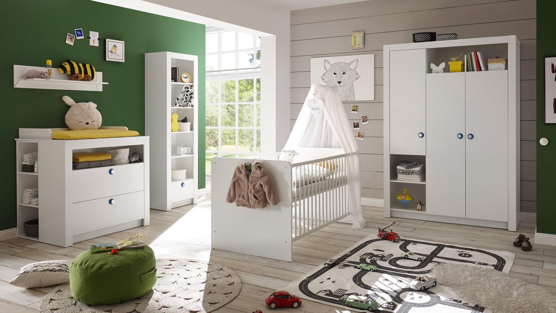 Bega 3-tlg. Babyzimmer-Set 'Paula' weiß Bild 1