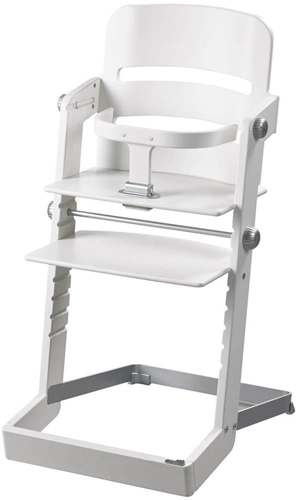 Geuther 'Tamino' Hochstuhl, weiß, höhenverstellbar, mit Metallfuß und Sicherheitsbügel Bild 1