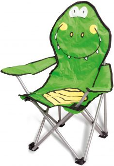 Kinderstuhl - Krokodil - klappbar, grün Bild 1