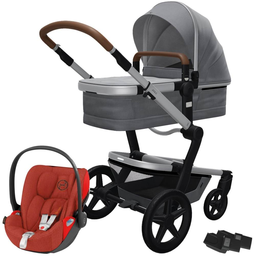 Joolz 'Day+' Kombikinderwagen Gorgeous Grey inkl. Cybex Cloud Z Plus Babyschale Autumn Gold Bild 1