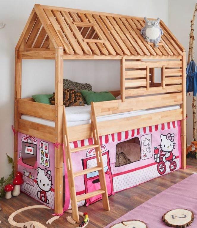 Relita 'Tom´s Hütte' Spielbett inkl. Stoffset 'Disney Hello Kitty' und Matratze Bild 1