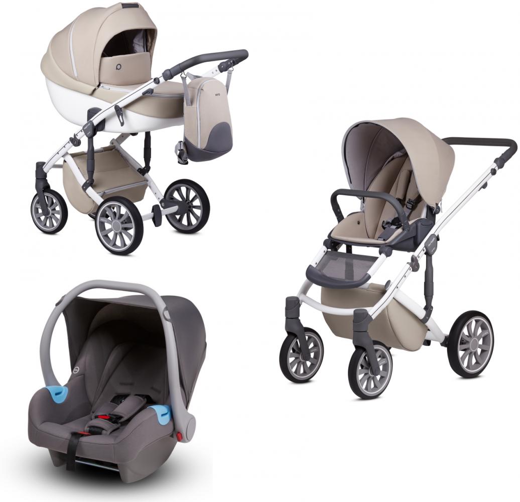Anex 'm/type' Kombikinderwagen 2020 Milk inkl. Babyschale Bild 1