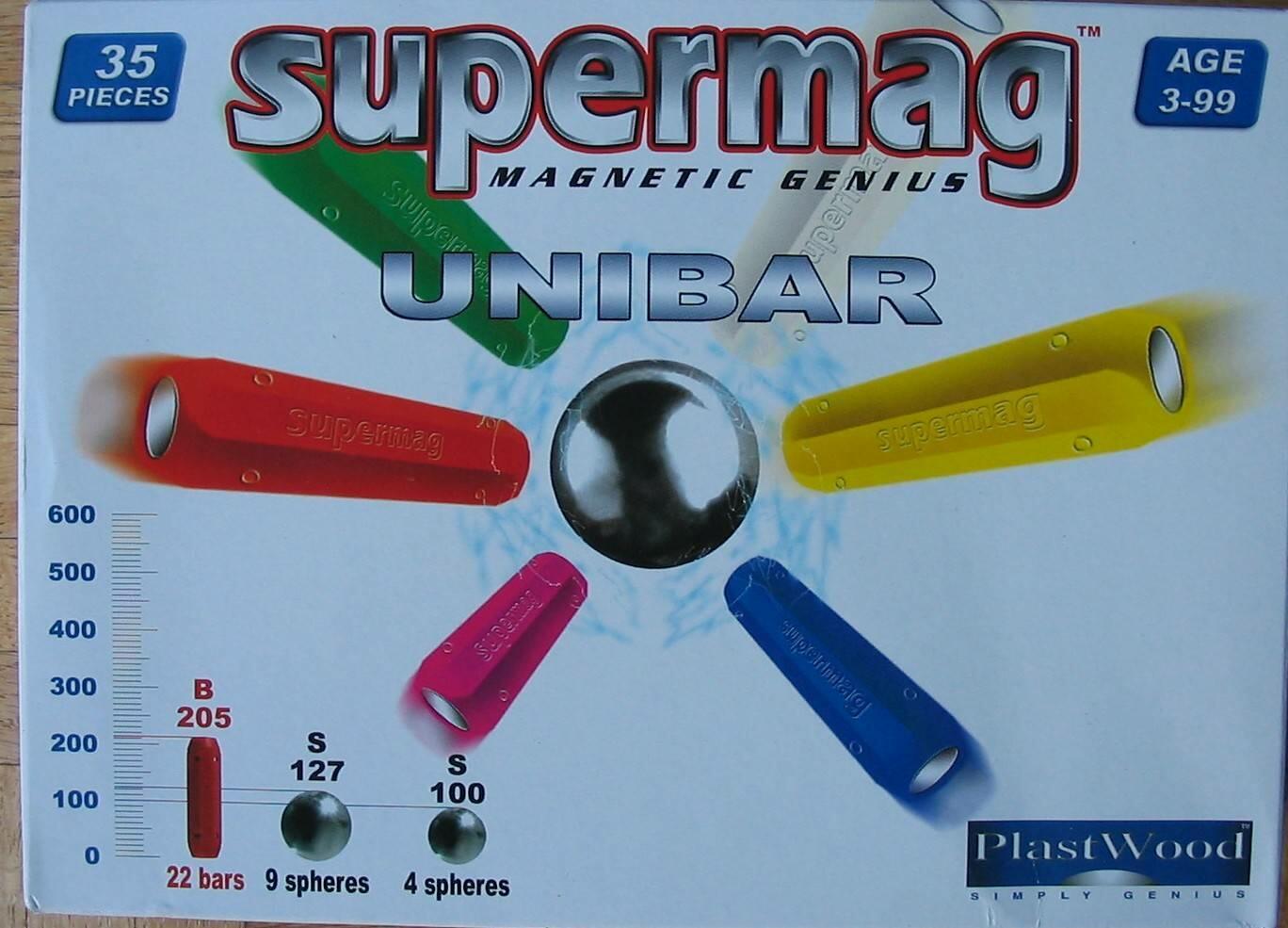 Supermag Magnet-Spiel UNIBAR 35 tlg (Farbe: Rot) Bild 1