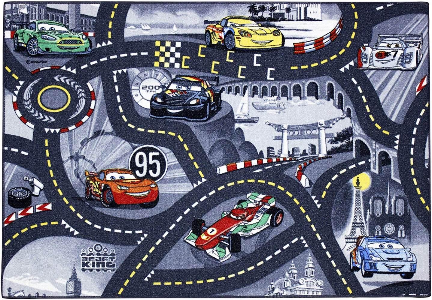 Cars Kinderteppich 95x133 cm Bild 1