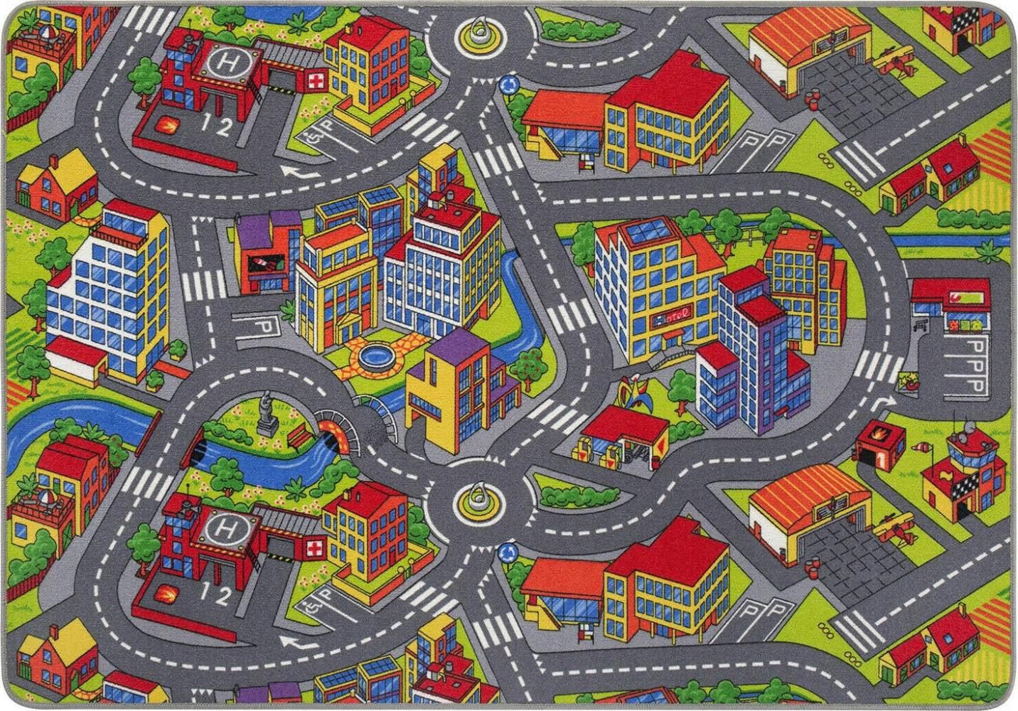 Misento 'Citiy' Straßenteppich 140 x 200 cm Spielteppich Bild 1