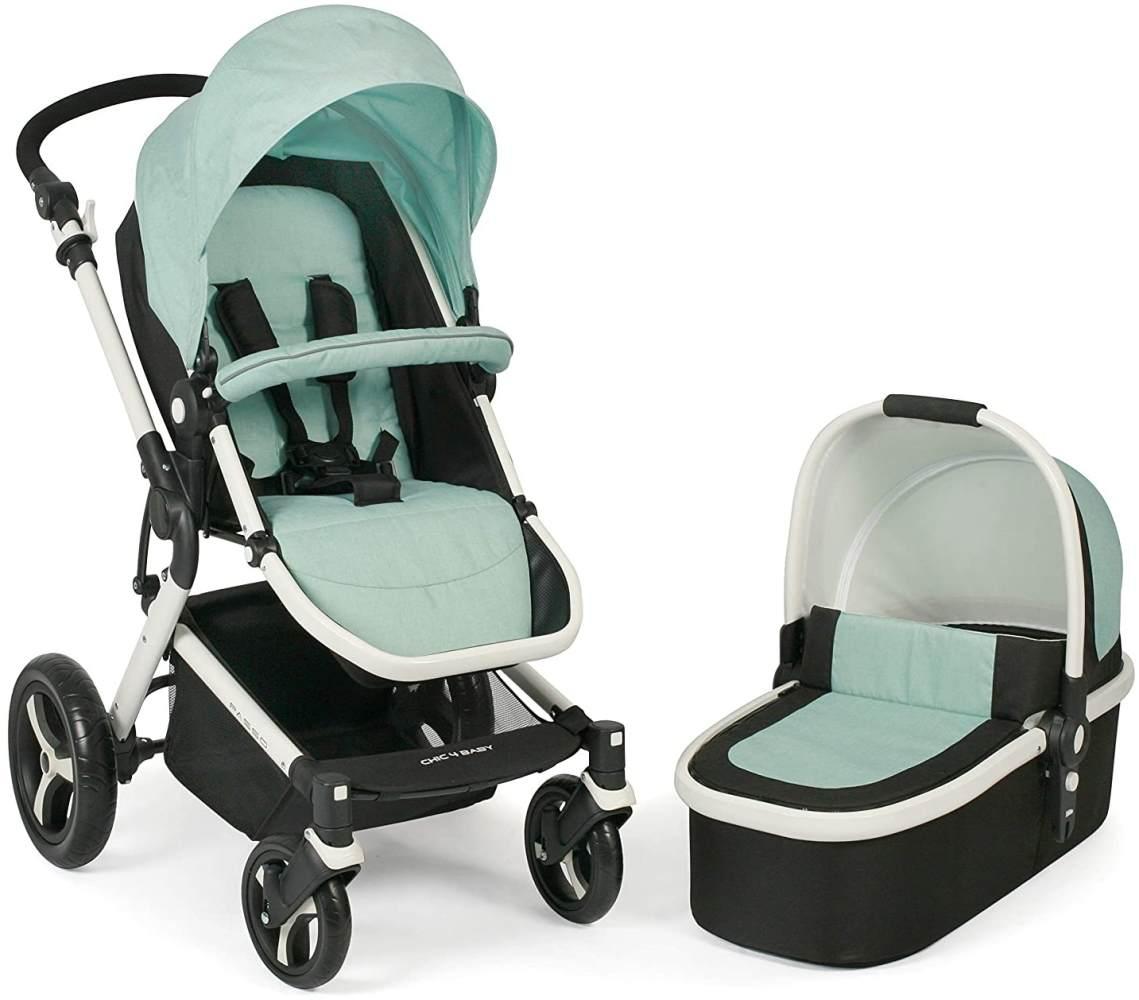 CHIC 4 BABY 163 66 Kombi-Kinderwagen Passo, inklusive Babywanne, Sportsitz und Maxi-Cosi Adapter, mint, grün Bild 1