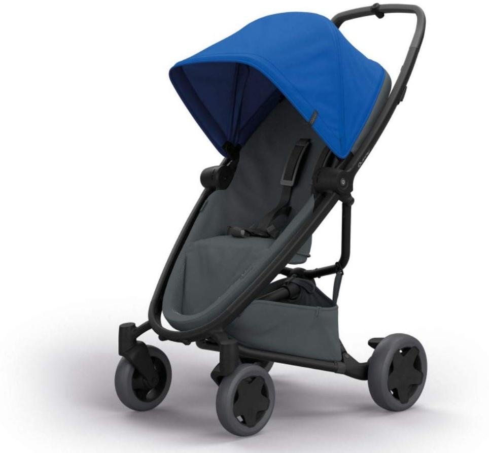 Quinny Zapp Flex Plus Buggy, stylischer Kinderwagen mit viel Komfort und Flexibilität, leicht und extrem kompakt zusammenfaltbar, nutzbar ab der Geburt (z.B. mit Lux Babywanne), blue on graphite Bild 1