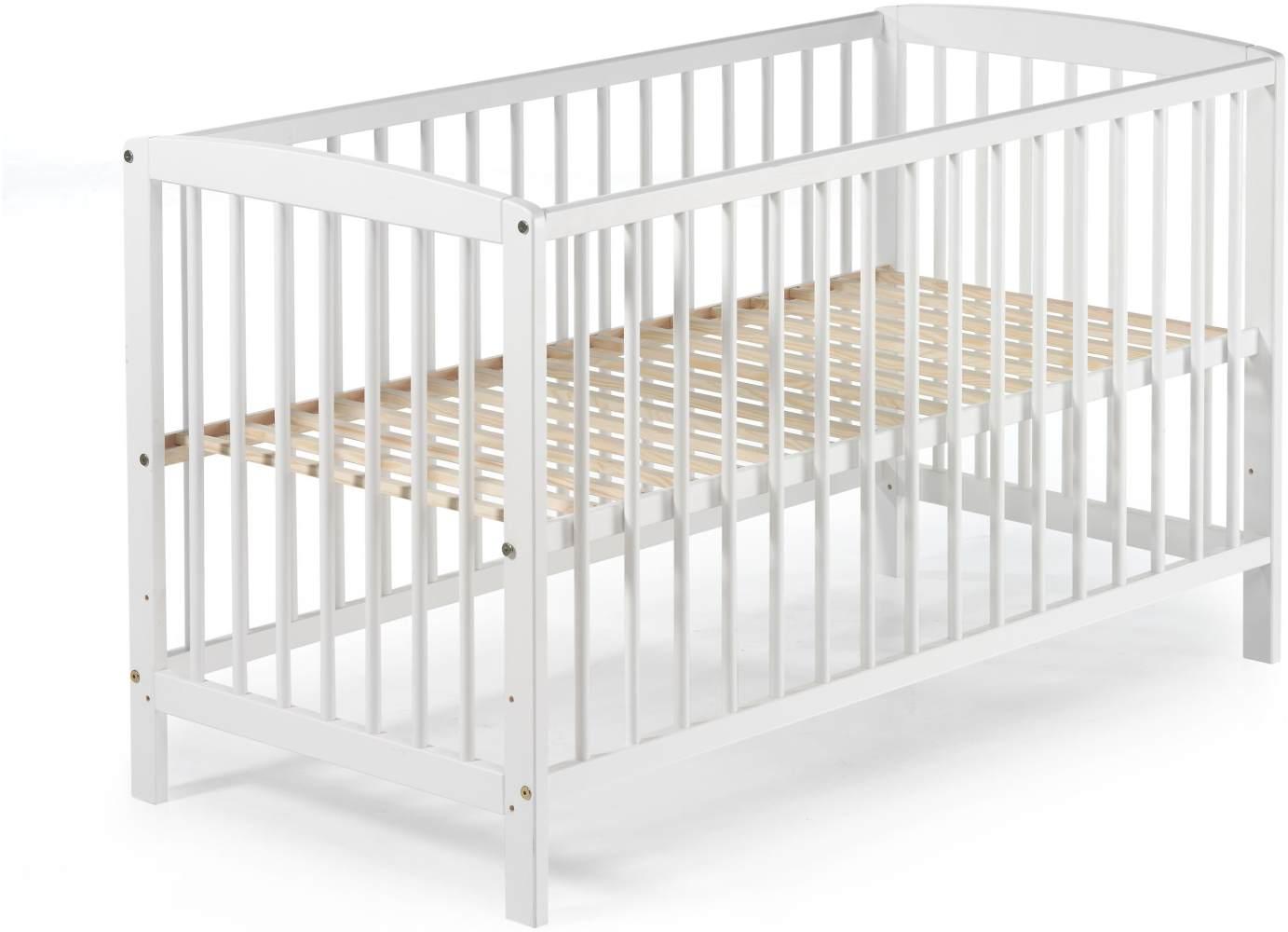 Schardt 'Felix' Kinderbett weiß, 60 x 120 cm, Lattenrost 3-fach höhenverstellbar Bild 1