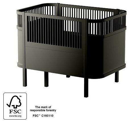 Sebra Kombi-Kinderbett schwarz Bild 1