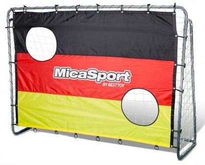 Besttoy Fußballtor Deutschland mit Netz und Torwand Bild 1