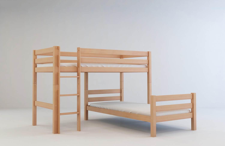 Mobi Furniture Etagenbett 90x200 inkl. Lattenrost natur Bild 1