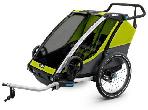 Thule 'Chariot Cab 2' Fahrradanhänger 2020 Chartreuse/Dark Shadow Bild 1