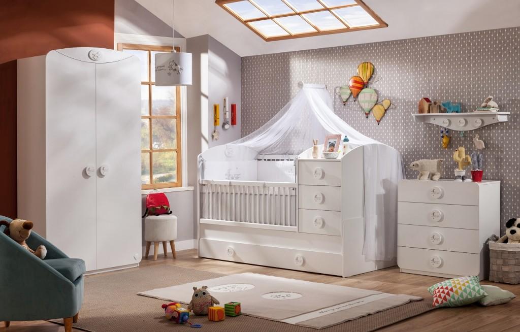 Cilek 'BABY COTTON' 4-tlg. Babyzimmer-Set Bild 1