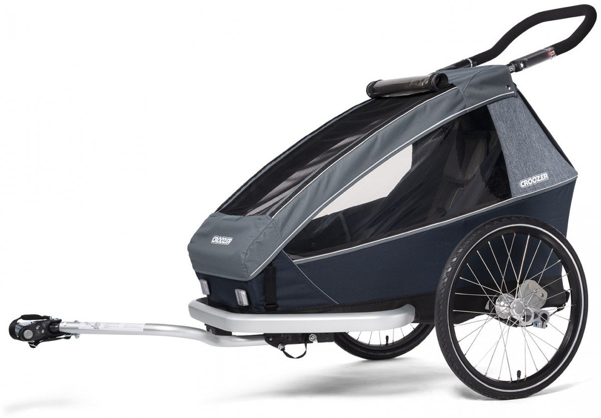 Croozer 'Kid Vaaya 1' Fahrradanhänger 2020, Graphite Blue, 1-Sitzer Bild 1