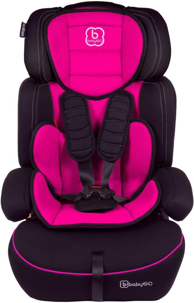 BabyGo 'Freemove' Autokindersitz in Pink, 9 bis 36 kg (Gruppe 1/2/3), umbaubar zur Sitzerhöhung Bild 1