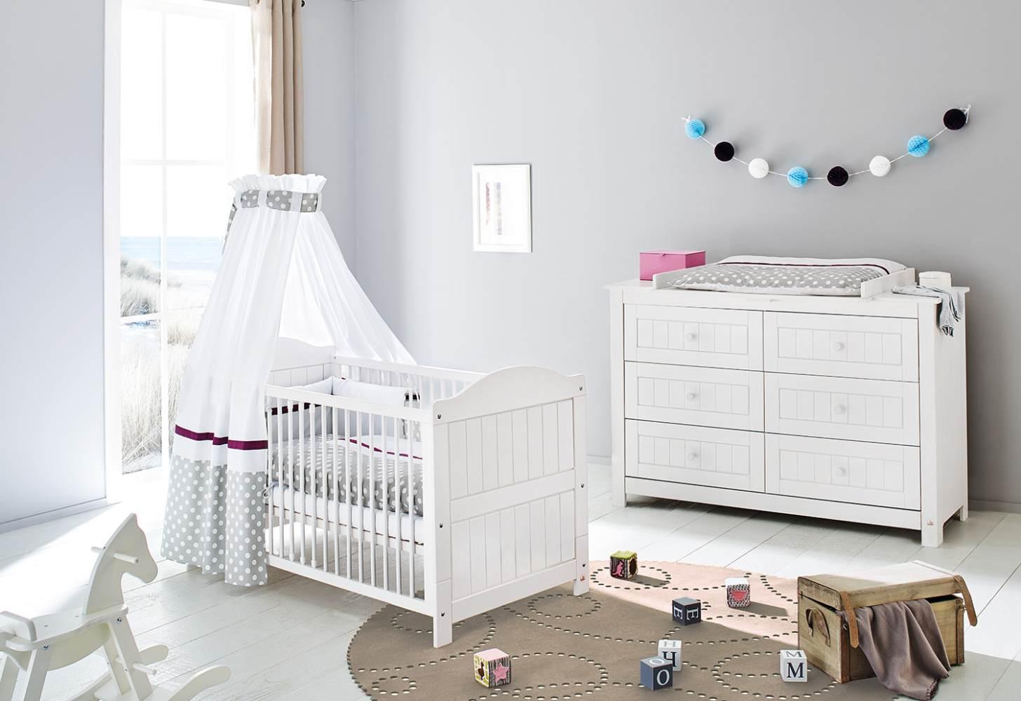 Pinolino 'Nina' 2-tlg. Babyzimmer-Set weiß, extrabreit Bild 1