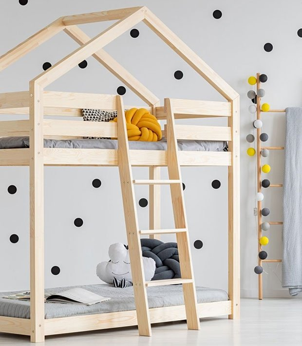 Best for Kids 'OTTA' Hausbett 90x160 natur Bild 1