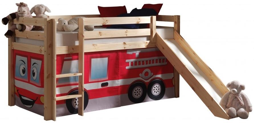 Pino Spielbett Natur lackiert 90x200 cm Feuerwehr Softdeluxe Bild 1