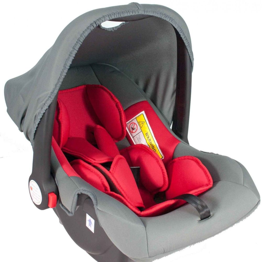 Babyschale United-Kids Babys Dream Gruppe 0+ 0-13 kg rot-grau Bild 1