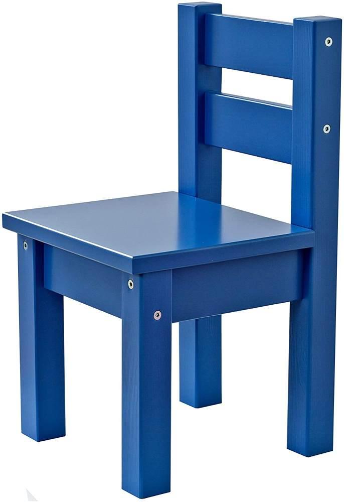 Hoppekids MADS, teilmassiv, sehr stabil, viele Farben, Holz, blau, 28 x 28 x 50 cm Bild 1