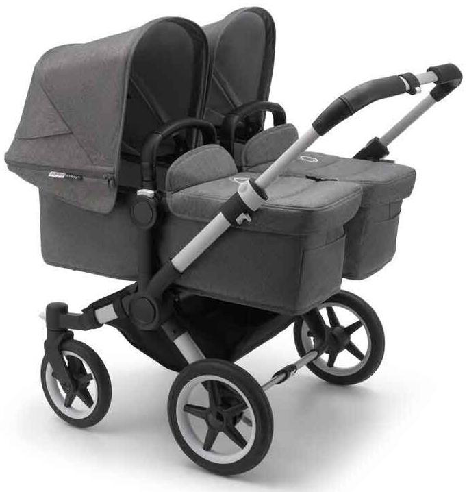 Bugaboo 'Donkey3 Twin' Zwillingskinderwagen 2020 Grau/Grau Meliert Bild 1