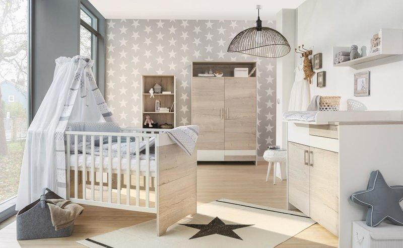 Schardt 'Clou Oak' 3-tlg. Babyzimmer-Set Schrank 2-türig Bild 1