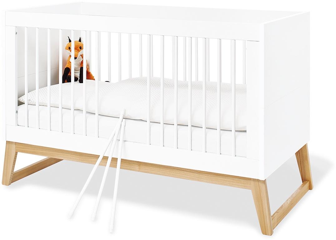 Pinolino 'Bridge' Kinderbett, Weiß, umbaubar, mit Schlupfsprossen, inkl. Umbauseiten, Lattenrost Bild 1