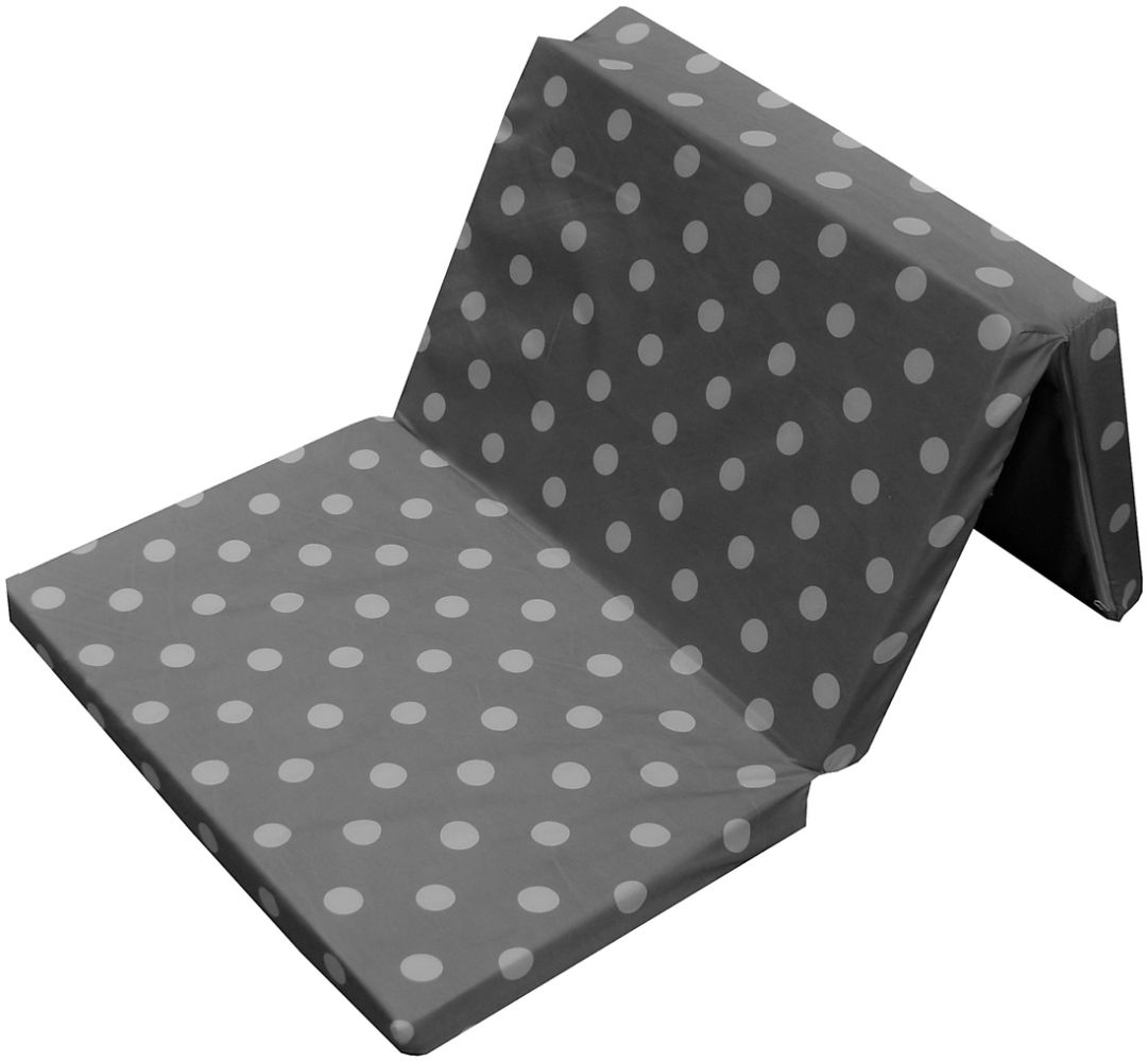 Bambini Kinder - Reisebettmatratze Dots grau 120 x 60 cm mit 5 cm Komforthöhe Bild 1